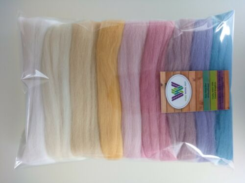 Sunrise set* Pure Merino Wool for Needle and Wet Felting packs of 30, 60 or 90 g