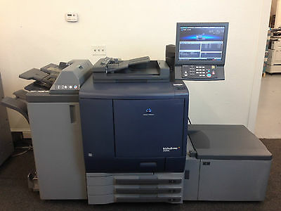 Konica Minolta Bizhub Pro C6000l Copier Printer Scanner Finisher Lct Only 122k