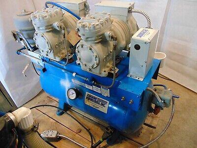 Turbine Industries Twin Air Compressor Nd0213 230v 13a 1ph 2hp 20gal S4847