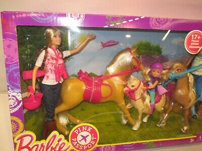 2015 Barbies Pink Passport Horse Ranch Play Set Brand New VERY RARE HTF