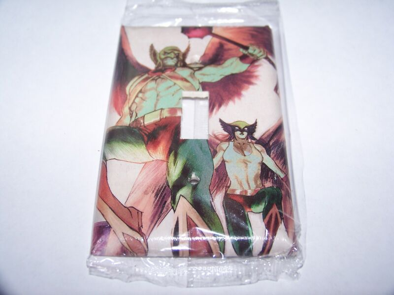HAWKMAN AND HAWKGIRL LIGHT SWITCH PLATE