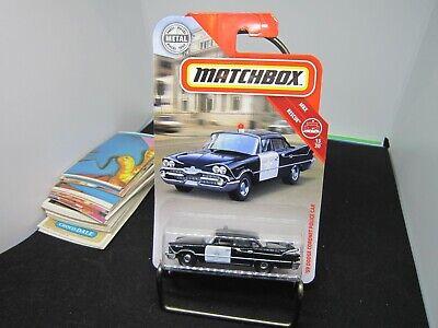 '59 Dodge Coronet Police Car  #43* Black *  2019 Matchbox Case N