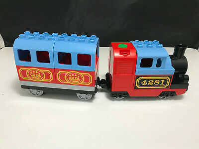 Lego Duplo Train Lot 4281 Motorized Battery Operated my first self propelled