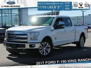 2017 Ford F-150 KING RANCH**4X4*CUIR*GPS*CAMERA*BLUETOOTH*A/C**
