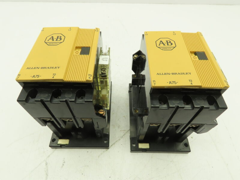 AB Allen Bradley 100-A75N-3 Contactor 3-Pole 75A 120V Coil Ser C  LOT OF 2