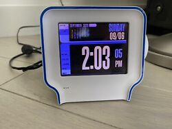 CHUMBY ONE Internet Device Alarm Clock with 3.5 Color LCD Touch Screen-Used