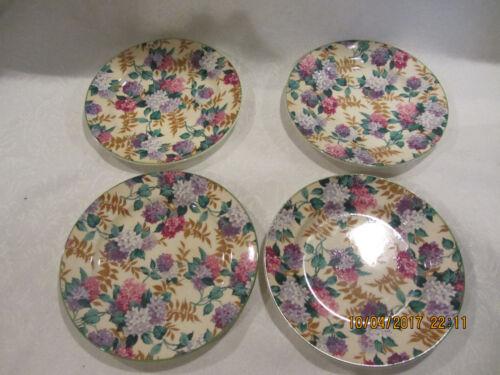 Royal Tudor Ware Barker Bros England Floral Salad/Bread Plates set of 4