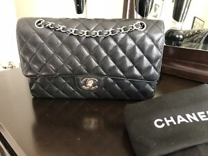 Chanel Classic Double flap M/L caviar