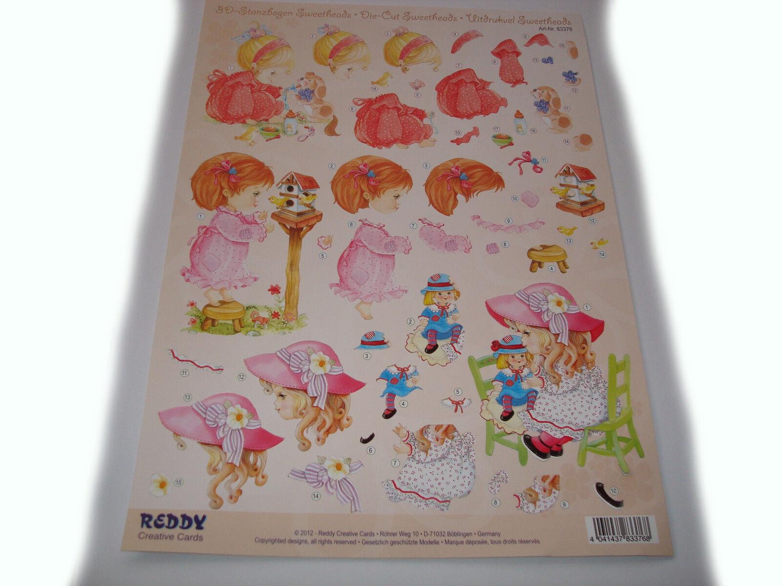 3D – Stanzbogen, Baby-Kind Mädchen  Artikel Nr. 83376