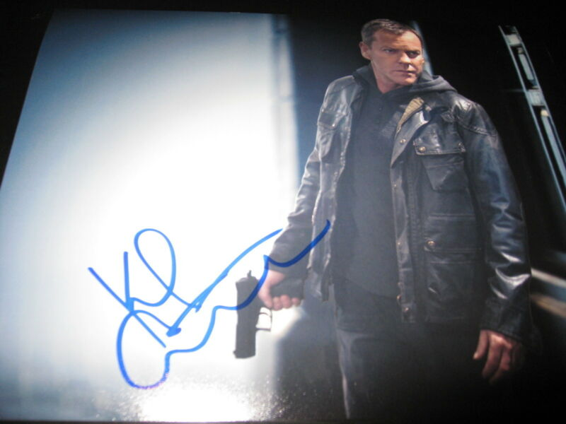KIEFER SUTHERLAND SIGNED AUTOGRAPH 8x10 PHOTO 24 PROMO LIVE ANOTHER DAY COA N