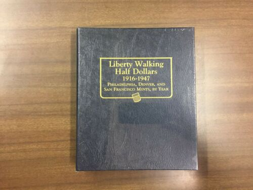 Whitman Classic Coin Album # 9125 For Liberty Walking Halves From 1916-1947
