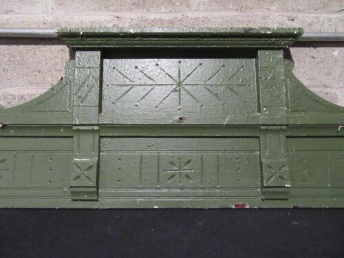 ~ ANTIQUE CARVED WALNUT PEDIMENT CROWN ~ 56.5 X 17.5 ~ ARCHITECTURAL SALVAGE