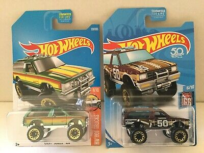 Hot Wheels CHEVY BLAZER 4x4 Lot of 2 - 2018 KMart K Days & 2017 Hot Trucks