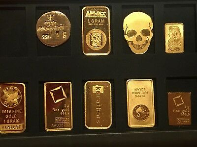 Empty Element Card Gold Bullion Case for Silver Platinum & Gold Single Gram Bars