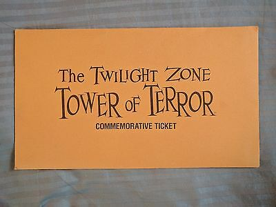 Disneyland Tower Of Terror Commemorative Ticket Unused Rare