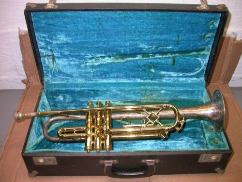 King Silver Tone Trumpet 1933-1934 HN White #159622 Classic Art Deco Engraving