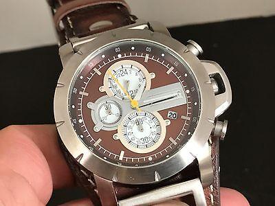 Fossil Jr1157 Chronograph 24 Hours Dual Time Date Quartz Men Watch