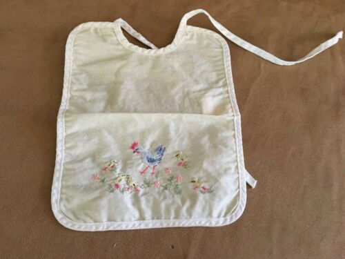 Oco Switzerland Chicken Vintage Baby Bib embroidered clothing Reborn doll yellow