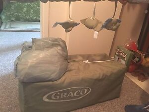 Graco Pack n play and baby gate