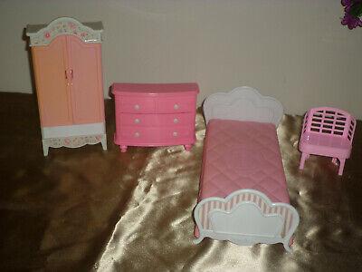 Lot of Barbie Furniture Incomplete bedroom set.