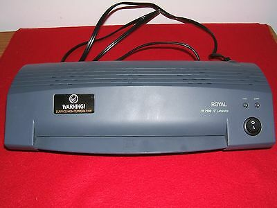 Royal Pl2100 9 Hot Laminating Machine - No Pouches Used