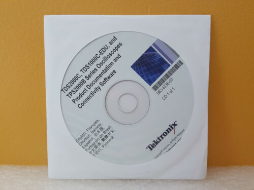 Tektronix 063-4336-03 TDS Oscilloscopes Documentation + Connectivity Software