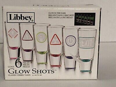 Glow In The Dark Shot Glass (glow in the dark New 212216  Shot Glass 6Pc 2.1Oz glow Libbey(4-Pack) Shot)