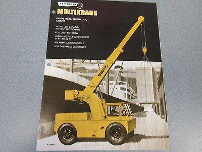 Rare Pettibone 14 Multikrane Sales Brochure