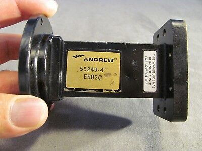 "Waveguide ANDREW C-band  WR137 - DR19  Double Ring Transition 4.00"" long <134>"