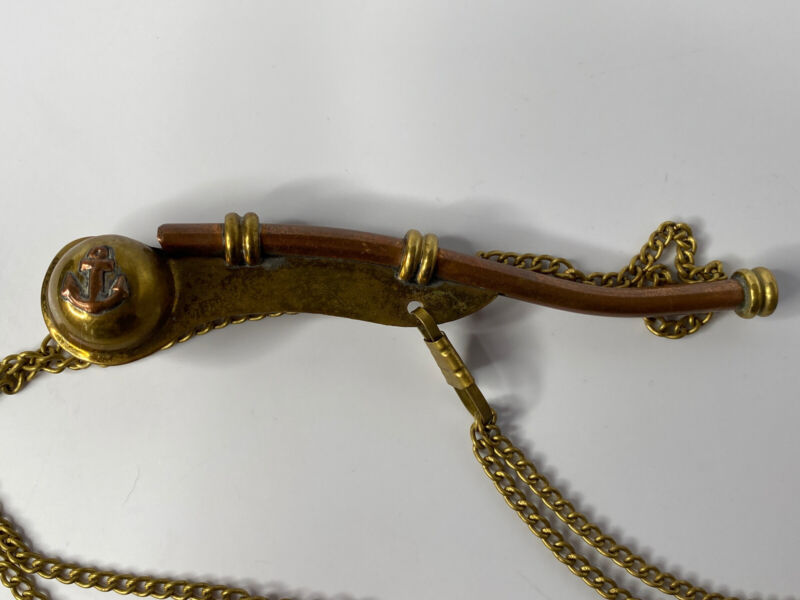 Boatswain Copper & Brass Whistle With Chain