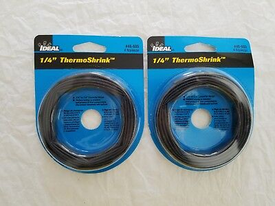 2-pack Ideal 14 Thermo Shrink 46-605 Thin-wall Shrinkable Tubing - Free Ship