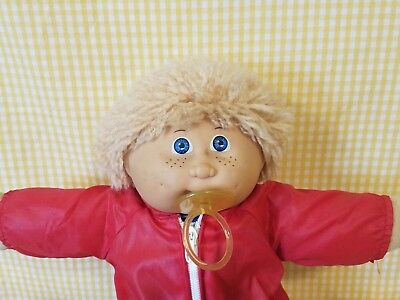 Cabbage Patch JESMAR SPAIN blonde Yarn Hair Freckles w/paci original Brown Sign. for sale  Chicago