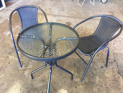 1 Garden table and 2 chairs. Outdoor gas table top heater   Other Garden   Gumtree Australia