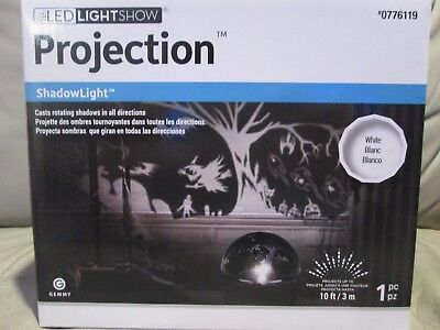 (NEW) Gemmy Lightshow LED Rotating Halloween Shadow Projection Light  # 0776119 - Halloween Shadow Projection