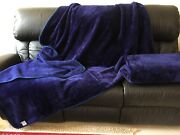 Flax Fur Throw Rug Blanket Navy Blue and Green Nollamara Stirling Area Preview