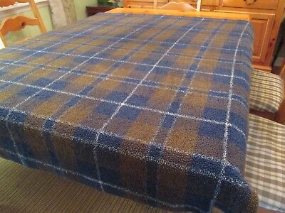 "SALE Bob Timberlake Plaid Throw Blanket 46"" W x 58"" L Blue and Green Acrylic"