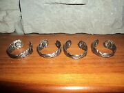 German Silver Napkin Rings