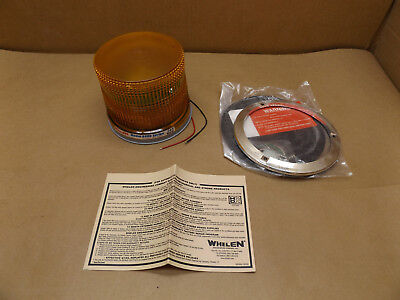 Whelen 800dlap Series Amber 1224v Dc 25 Watt Strobe Beacon Permanent Mount Nos