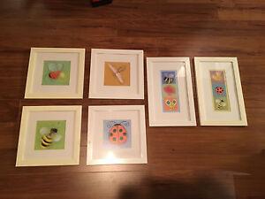 Artwork for kids room, 6 frames