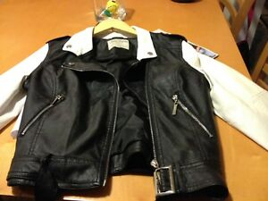 Young girls leather jacket size small