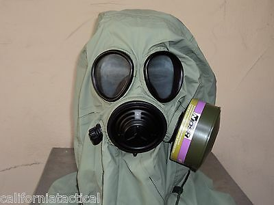 Military 40mmnato Gas Mask Wdrink Port Hood Pouch Nbccbrn Filter Exp 2022