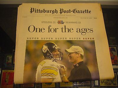 2 6 2006 Steelers Pittsburgh Post Gazette One For The Ages Super Bowl Newspaper