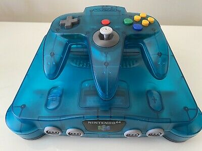 Nintendo 64 N64 Funtastic Ice Blue Limited Edition Console Lylat Wars PAL CLEAN