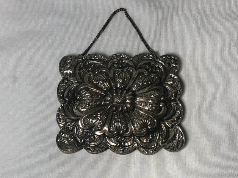 Vintage Embossed Repousse 900 Silver Turkish Wedding Mirror Hanging Mirror