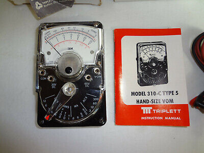 Triplett Ibm Analog Multimeter W Original Box Instructions Cables
