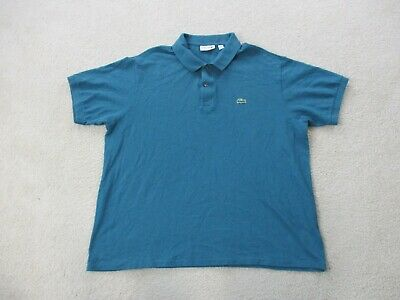 Lacoste Polo Shirt Adult 3XL XXXL Size 8 Green Crocodile Casual Rugby Mens A09