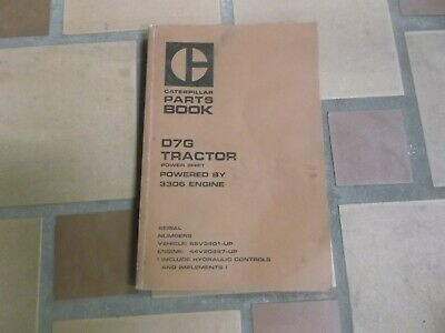 Cat Caterpillar D7G Tractor Crawler Dozer Bulldozer Parts Catalog Manual  for sale  Dubuque