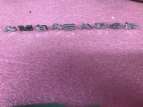 AMC Ambassador Individual High Chrome Finish Letter Set Rare