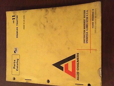 Allis Chalmers Allis-chalmers Hd11 11  Crawler Parts Catalog Manual Bulldozer