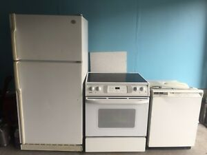 Fridge, oven and dishwasher. Pick up only
